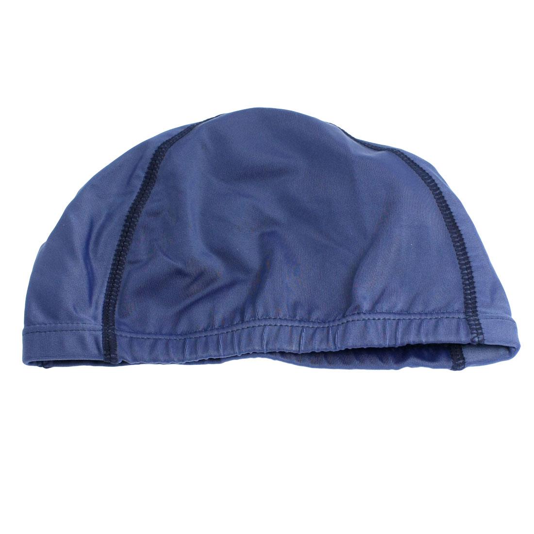 Adults Sport Polyester Elastic Fiber Elastic Dome Shape Swim Cap Sky Blue