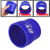 Car Blue Straight Silicone Hose Reducer 70mm to 76mm Hose