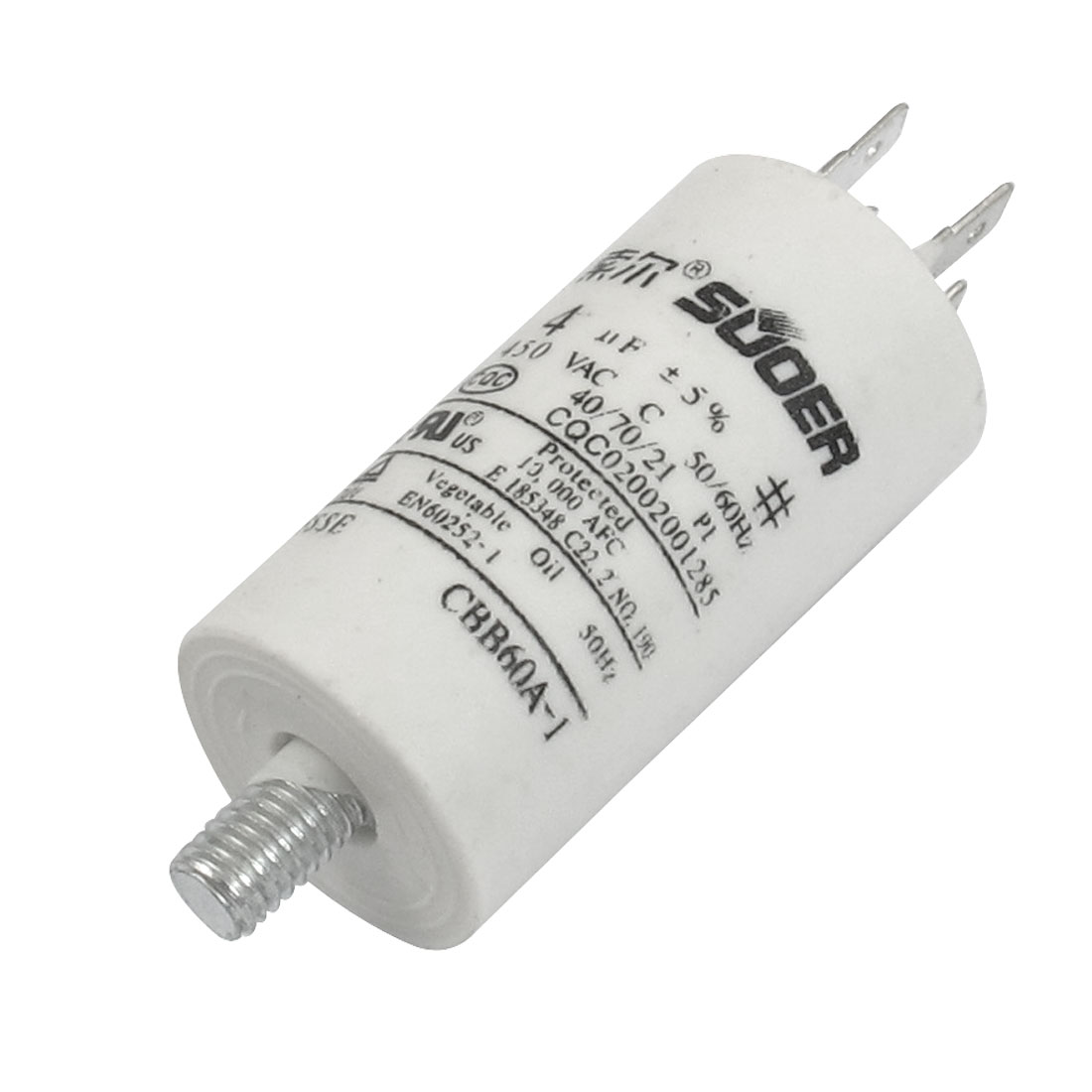AC 450V 4uF 8mm Thread Non Polar Polypropylene Film Capacitor