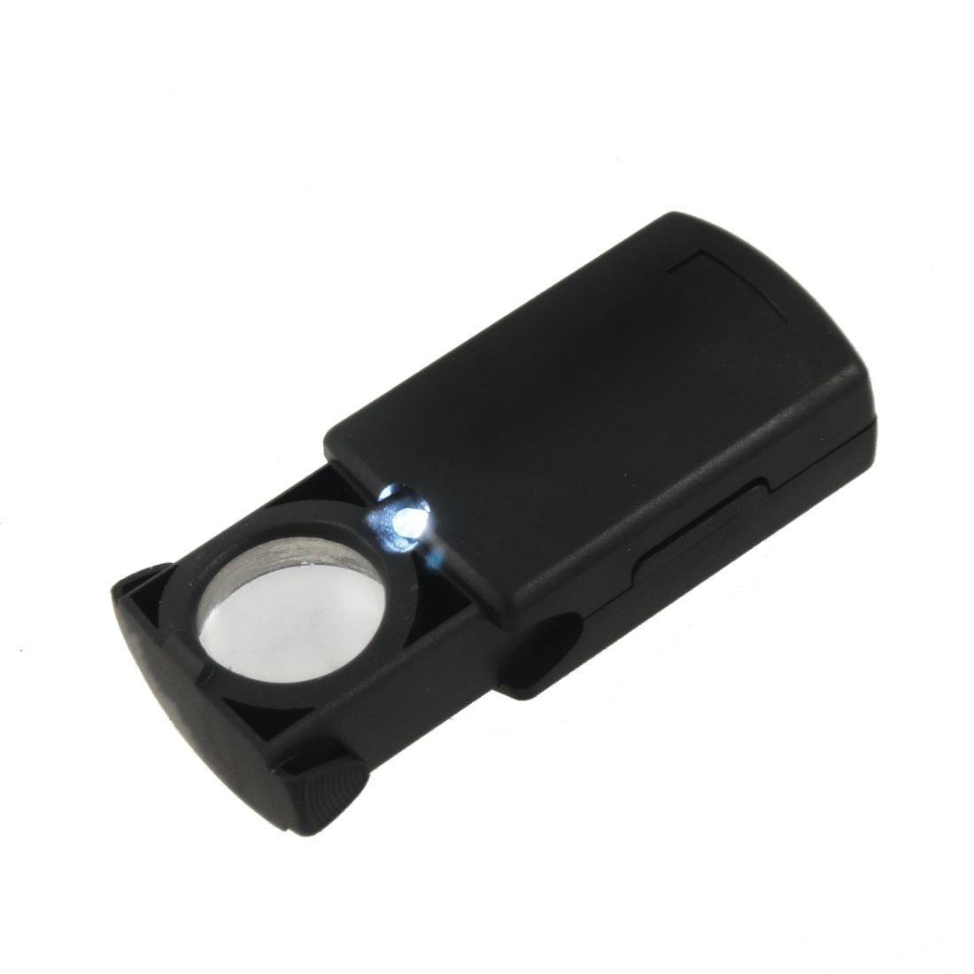 Black Foldable Gemstone Jewelry Loupe Magnifier w LED Light