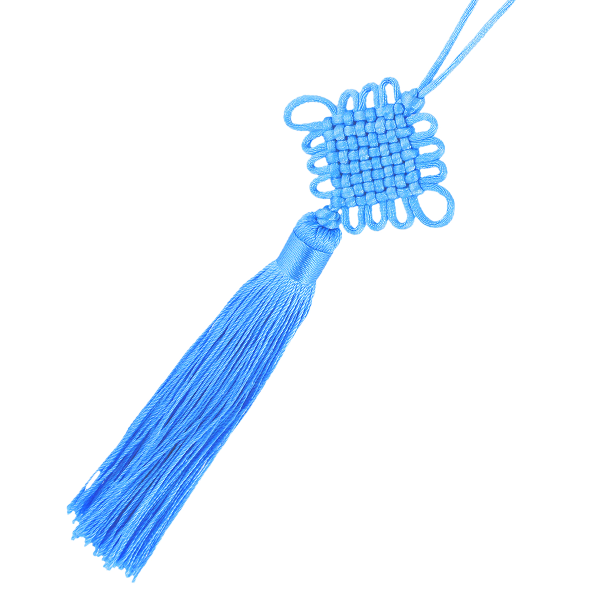 Car Auto Handmade Braid Tassel Decor Chinese Knot Ornament Skyblue