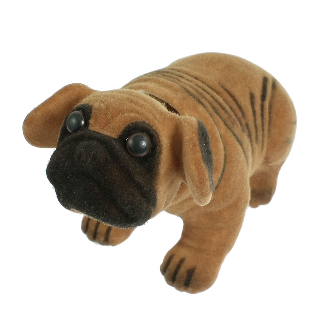 Gold Tone Chain Fragrant Pug Nodding Dog Brown for Car Auto