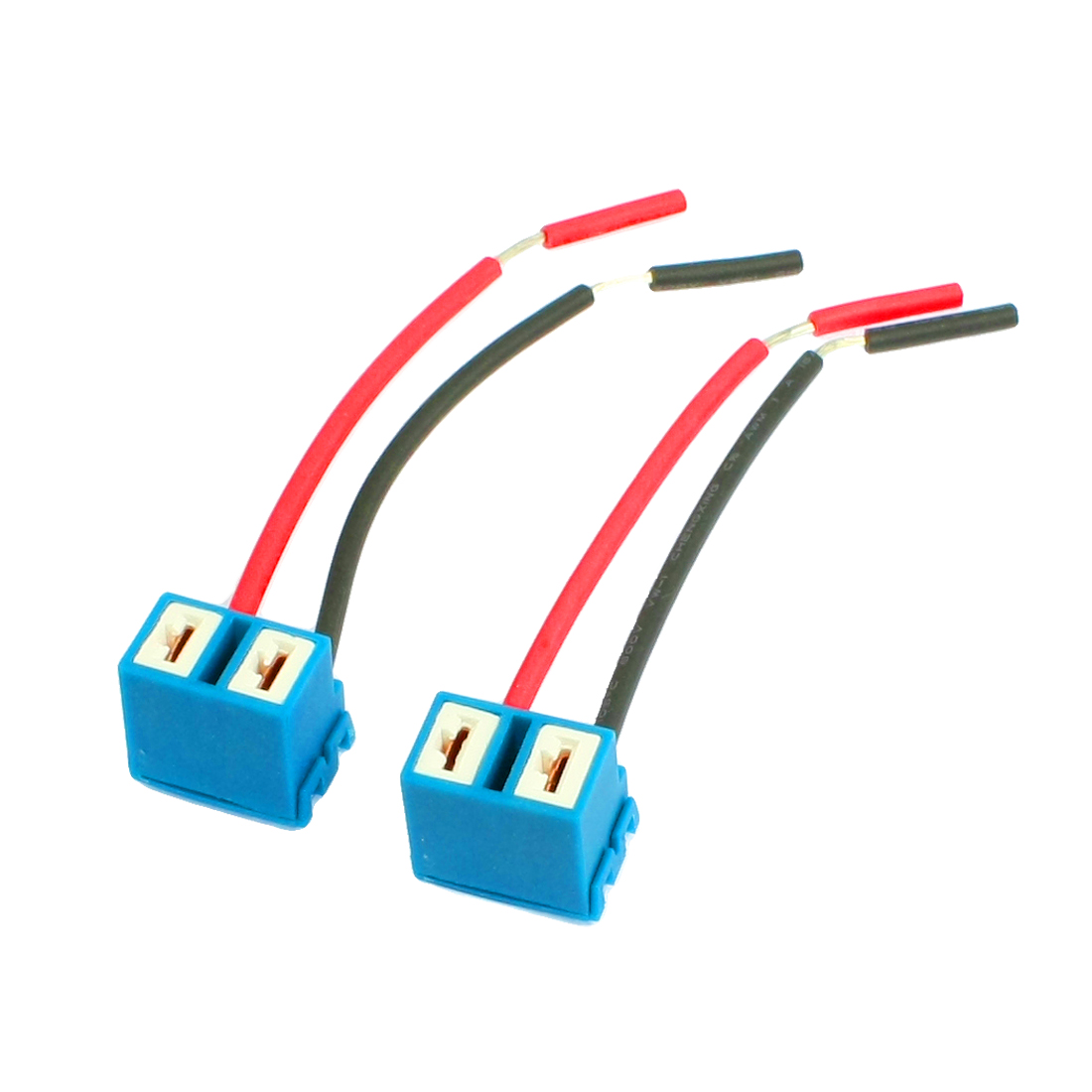 2Pcs DC12V Angled Socket H7 Ceramic Extention Headlight Connector Wiring Harness
