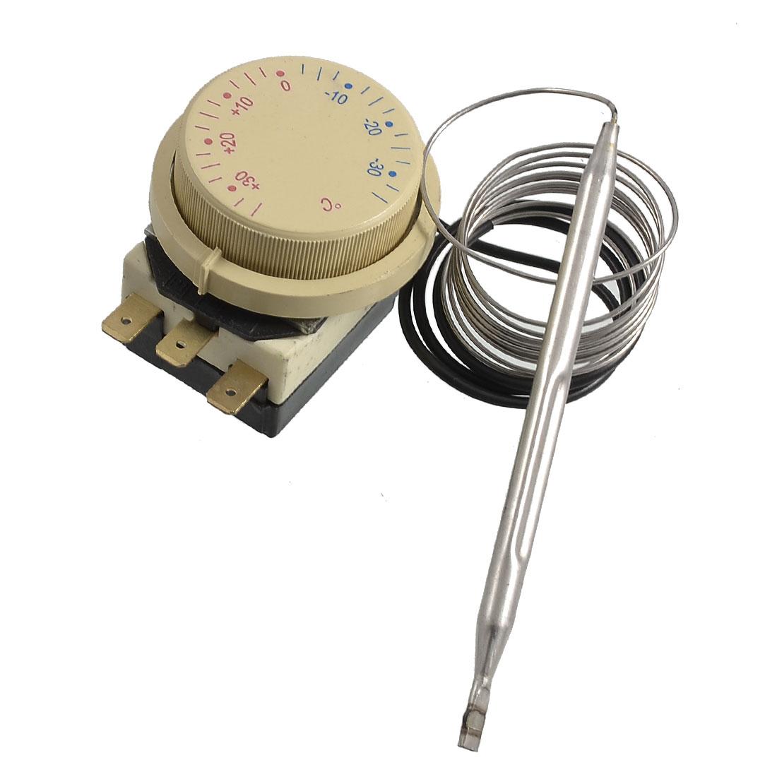 AC 250V 16A -35 to 35 Celsius Degree 3 Terminals Freezer Refrigerator Thermostat
