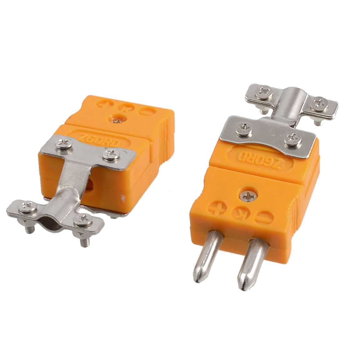 Pair Male to Female Plugs K Type Thermocouple Sockets