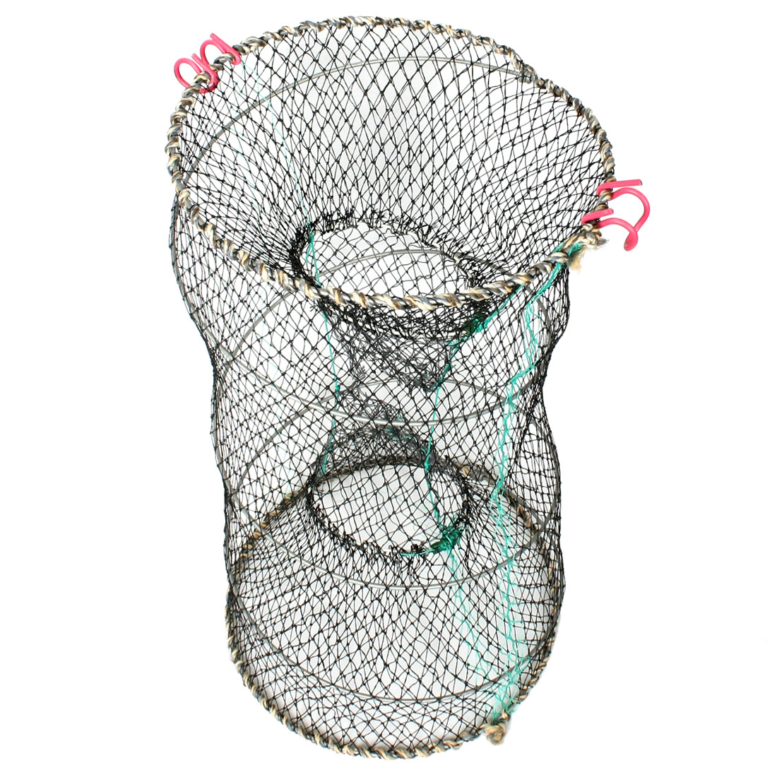 Crab Crawfish Shrimp Foldable Black Fishing Keep Net 16.5""