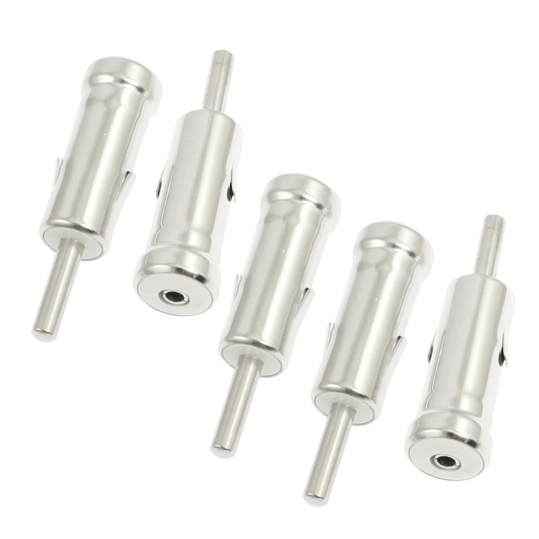 5 Pcs Vehicle Car Male AM/FM Radio Stereo Adapter Connectors
