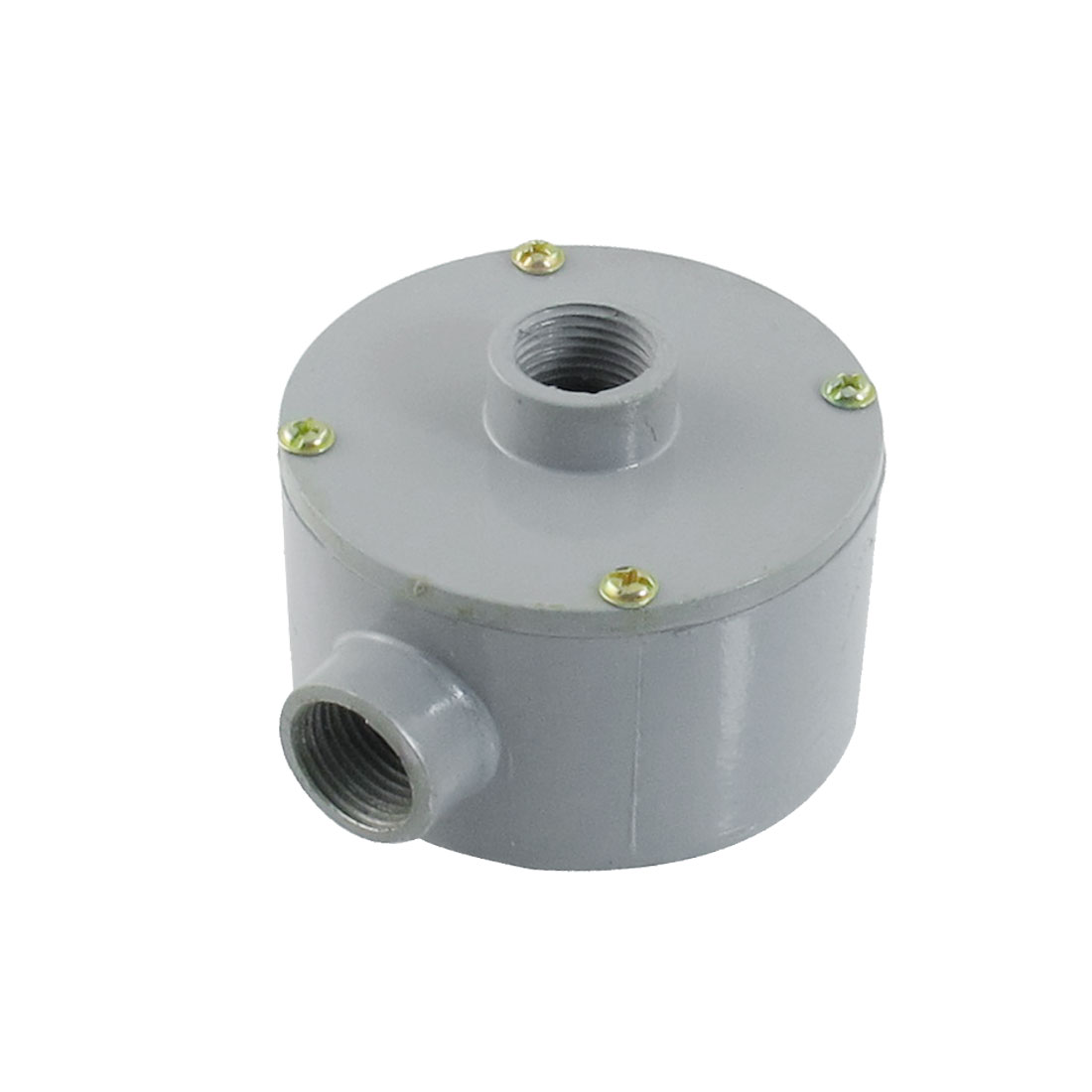"G1/2"" Thread Two Holes Conduit Wiring Round Metal Junction Box"