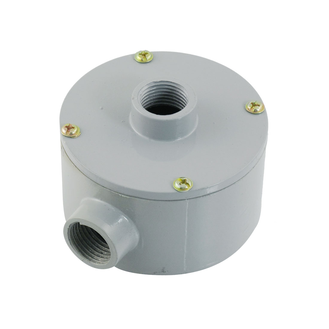 "G1/2"" Thread Three Holes Conduit Wiring Round Metal Outlet Box"