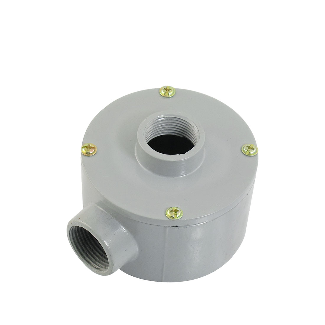 "G3/4"" Thread Two Holes Conduit Wiring Round Metal Junction Box"