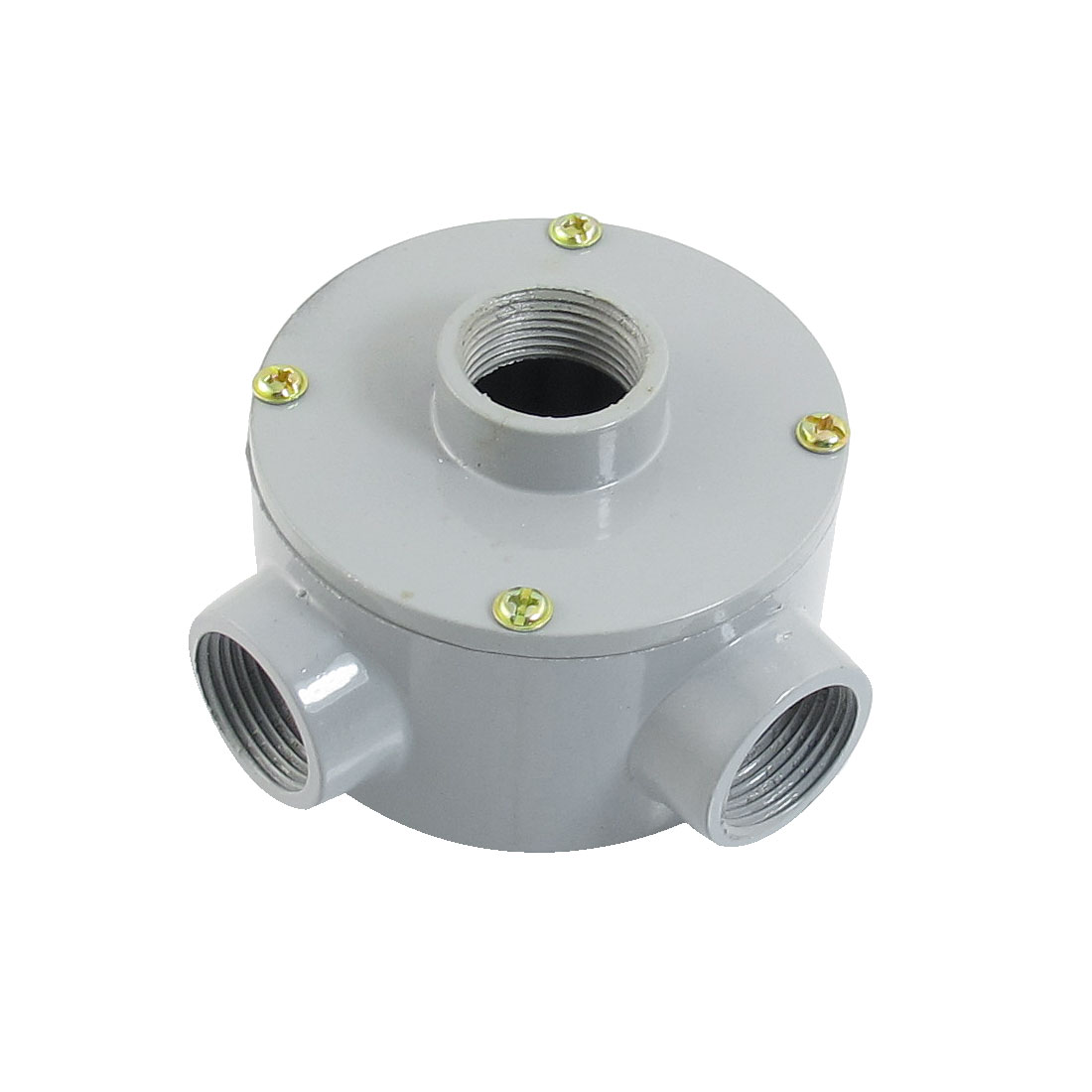 "G3/4"" Thread Three Holes Conduit Wiring Round Metal Junction Box"