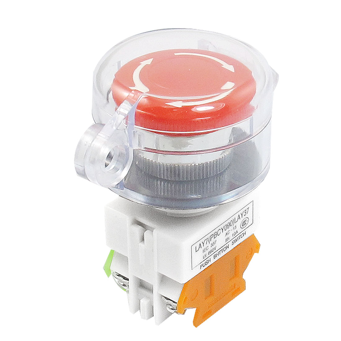 Self Locking Contact Clear Cover Protection Red Emergency Stop Push Button Switch NO/NC