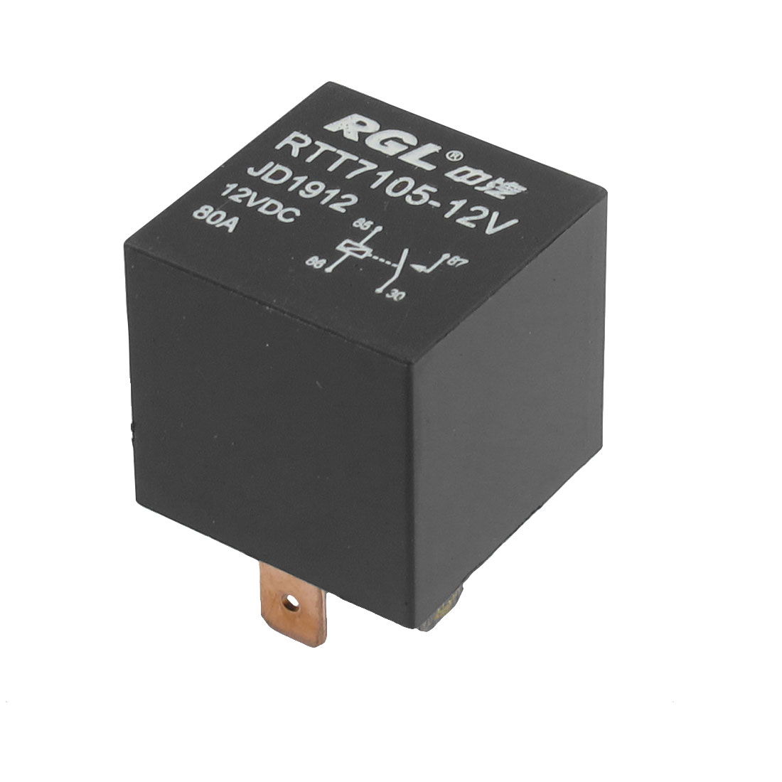 DC 12V 80A 1NO SPST 4 Pins 15mm Rail Socket Automotive Truck Car Relay