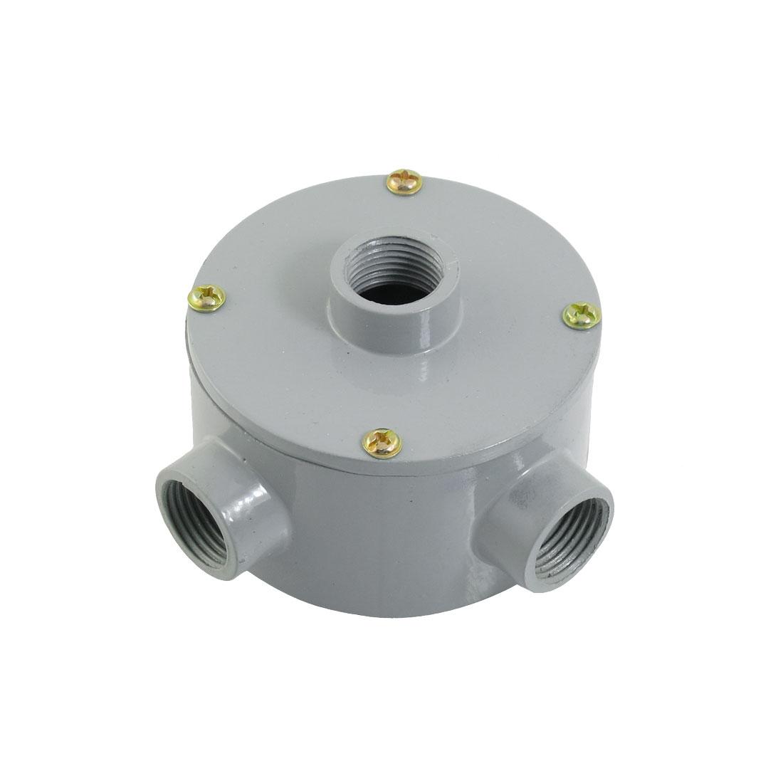 "G1/2"" Thread Three Holes Conduit Wiring Round Metal Junction Box"