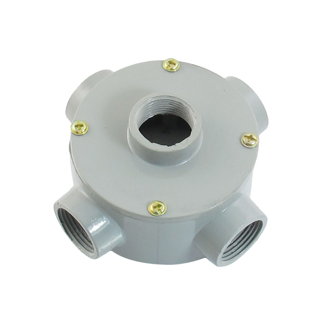 "G3/4"" Thread Five Holes Conduit Wiring Round Metal Junction Box"