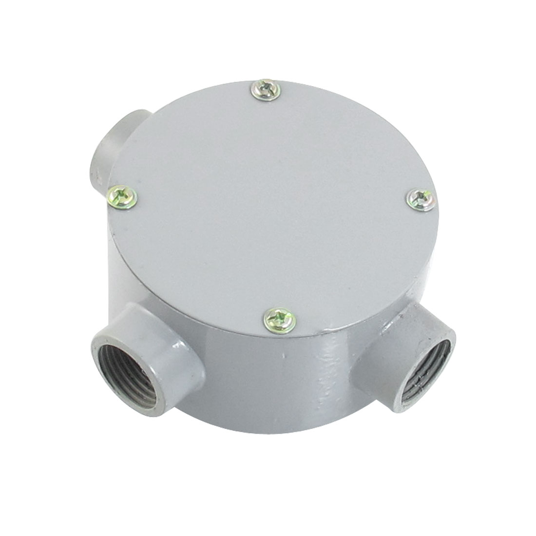"G1/2"" Right Angle Three Hole Connecting Metal Round Junction Box"