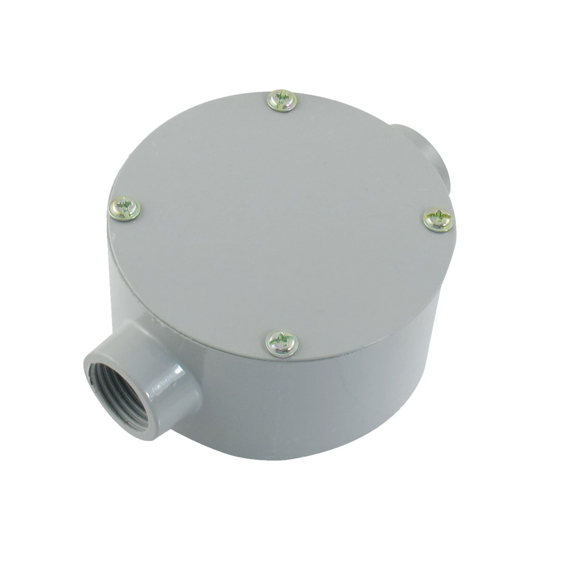 "G1/2"" Dia. Two Straight Hole Connecting Metal Round Water-Proof Junction Box"