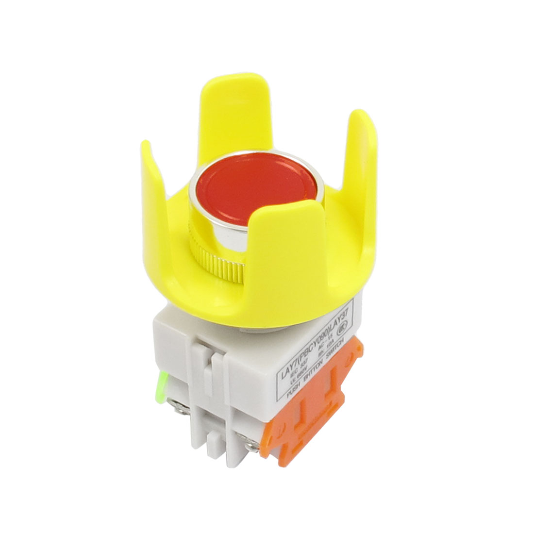 Momentary Contact 4 Screw Terminals Red Push Button Switch Ui 660V Ith 10A