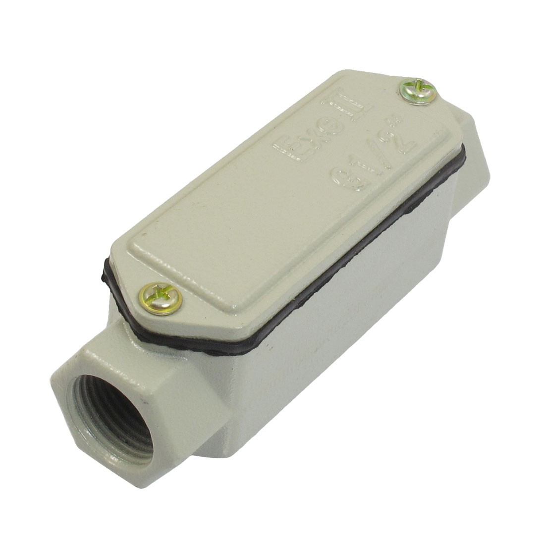 """G1/2"""" 2 Hole Linear Cylindrical Metal Explosion-proof Conduit Outlet Box"""