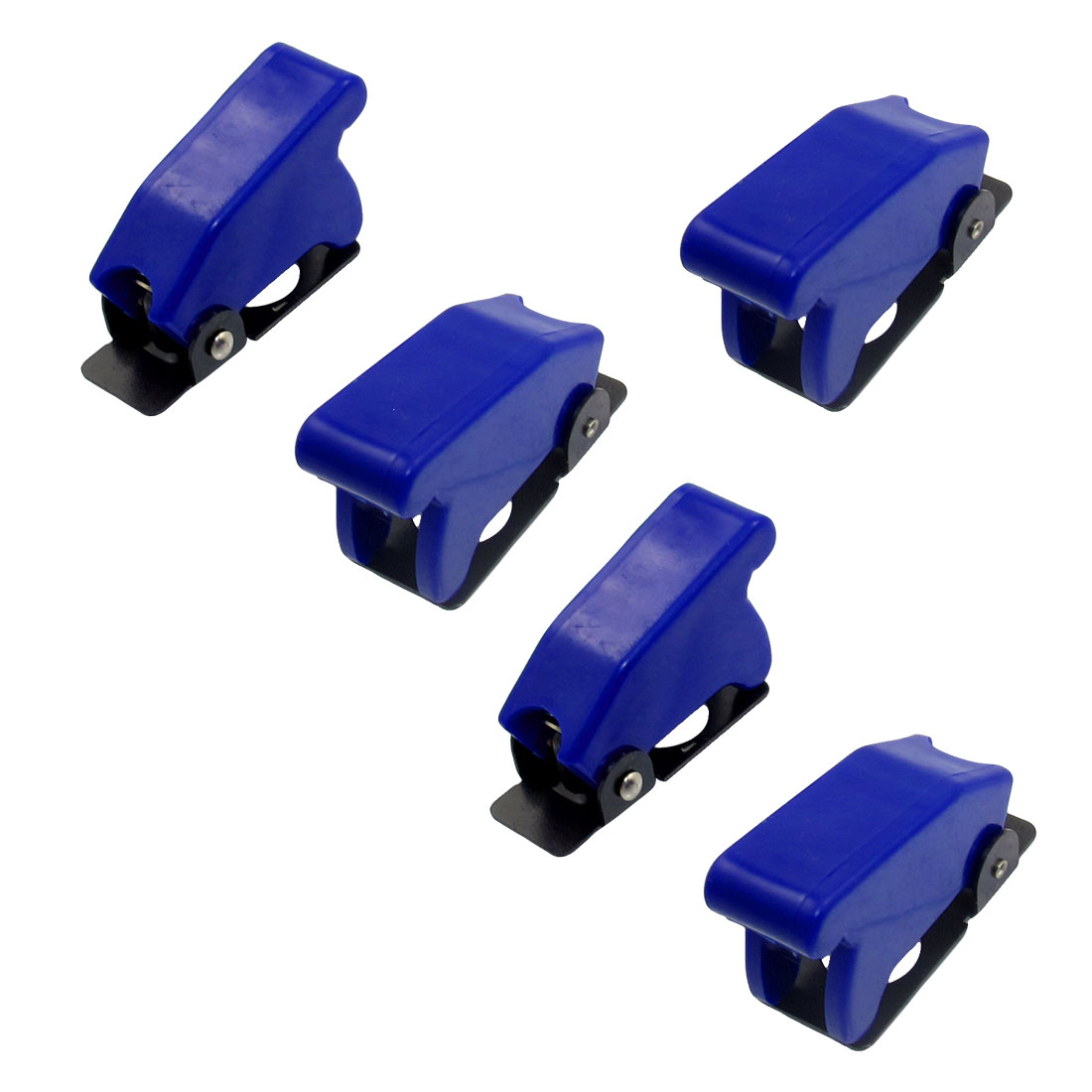 5 Pcs 12mm Mount Dia. Blue Safety Flip Cover for Toggle Switch