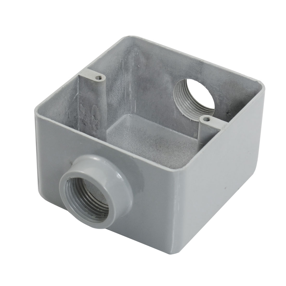 Household Metal Linear Double Hole Circuit Flush Mount Junction Box G3/4""
