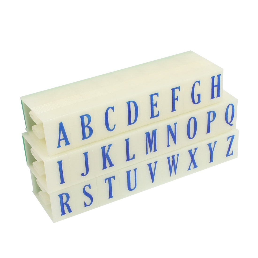 Stationery Beige Plastic Detachable A-Z Letters English Alphabet Stamp Set