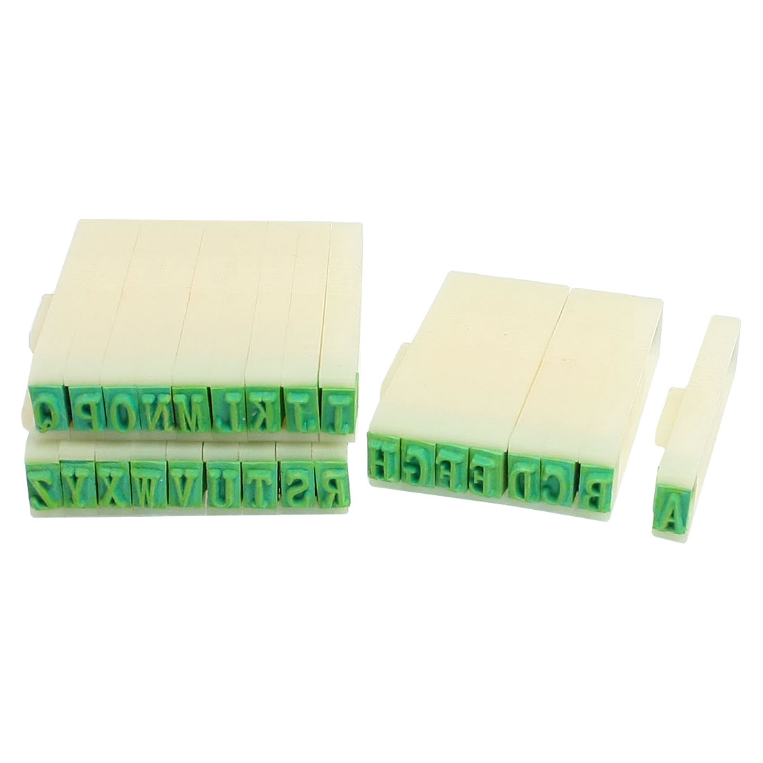 Stationery Plastic Detachable English Multipurpose Number Alphabet Stamp Set Beige