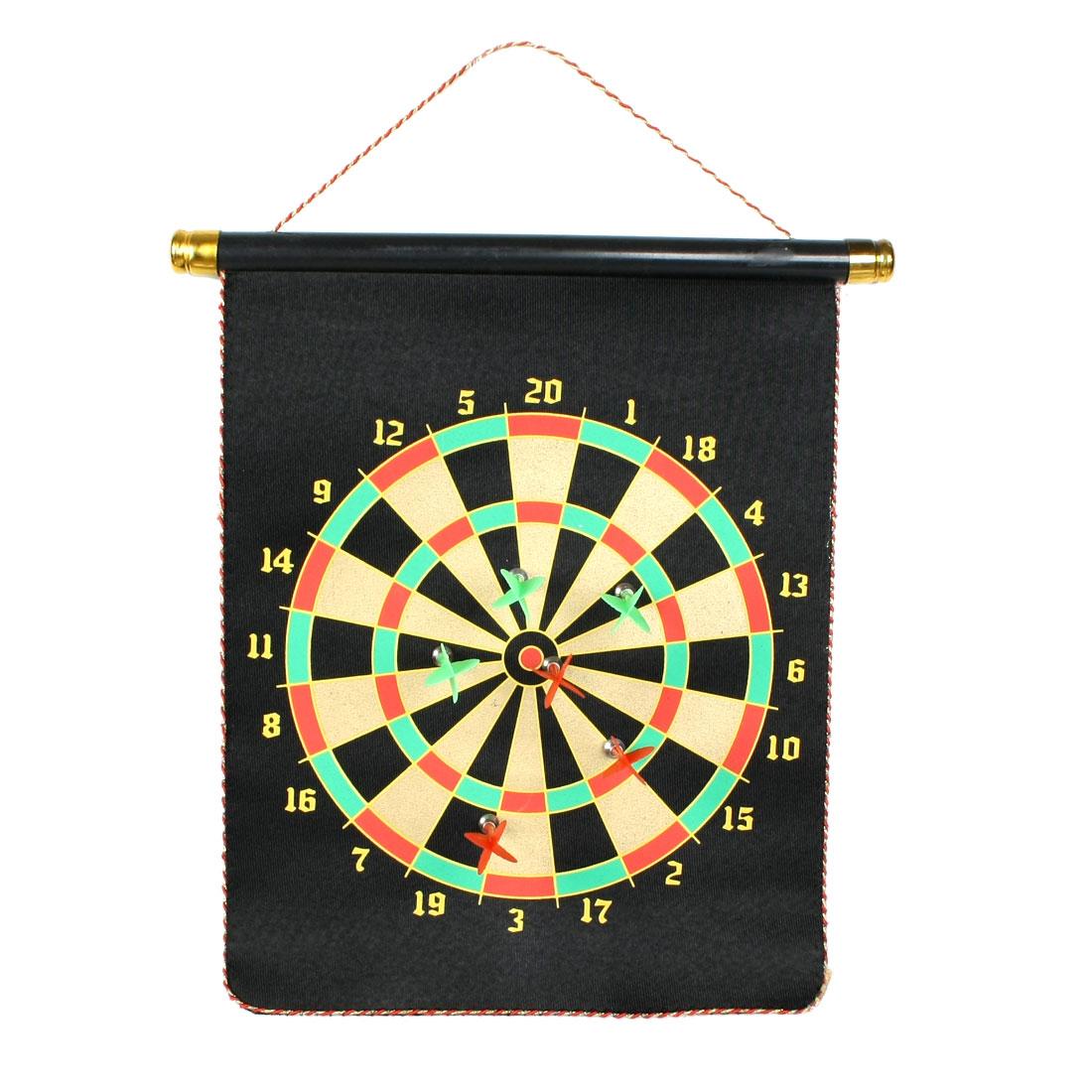 "Black 16"" x 12"" Scroll Design Magnet Dart Board Dartboard Toy"