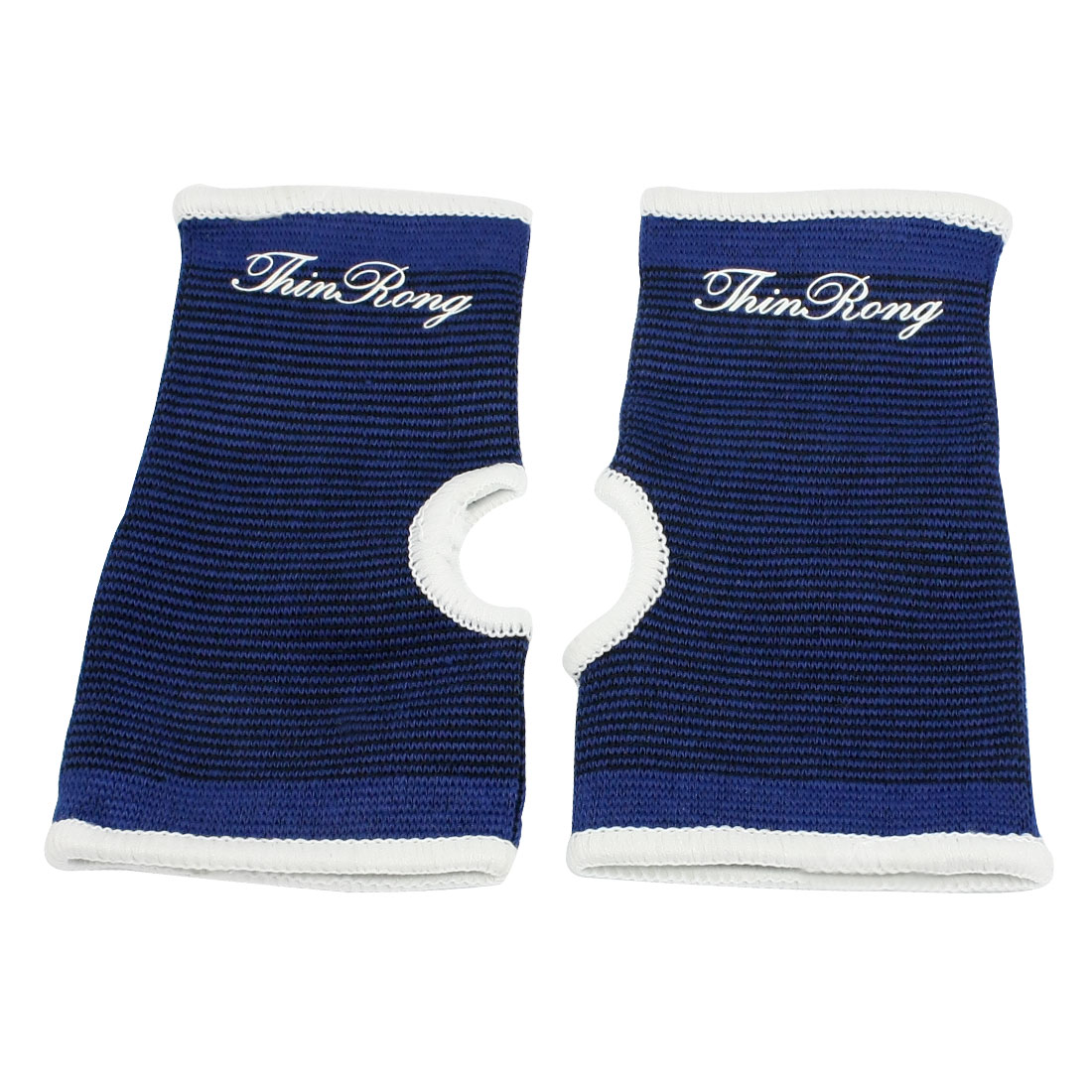 Blue Black White Sports Wear Stretchy Sleeve Palm Support Brace Pair