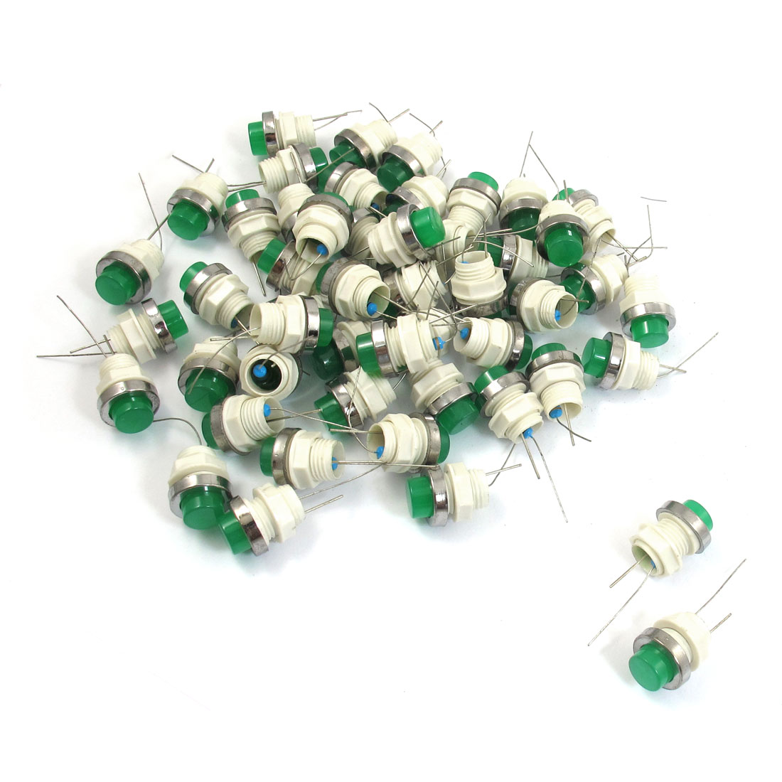 50 Pcs 10mm Threaded 24VDC Green LED Lamp Indicator Pilot Light AD11-10/21