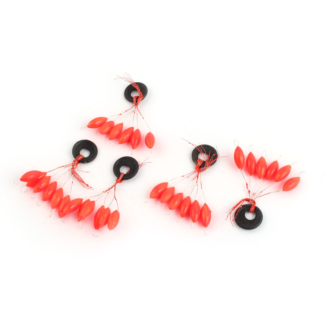 5 x 2# Oval Orange Red 6 in 1 Floater Stopper Fishing Tackle Tool