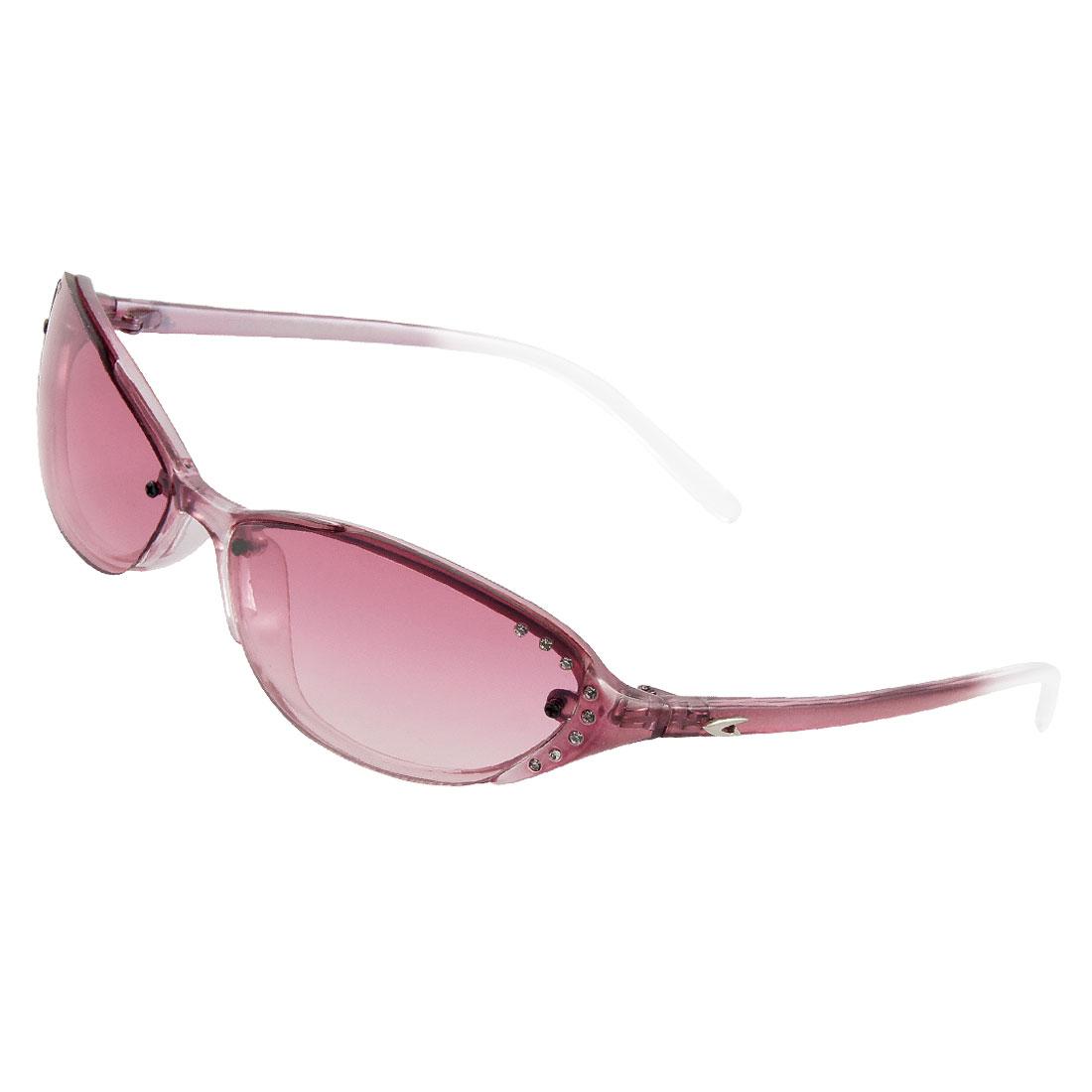 Ladies Amaranth Clear Plastic Full Frame Sunglasses Eyeglasses