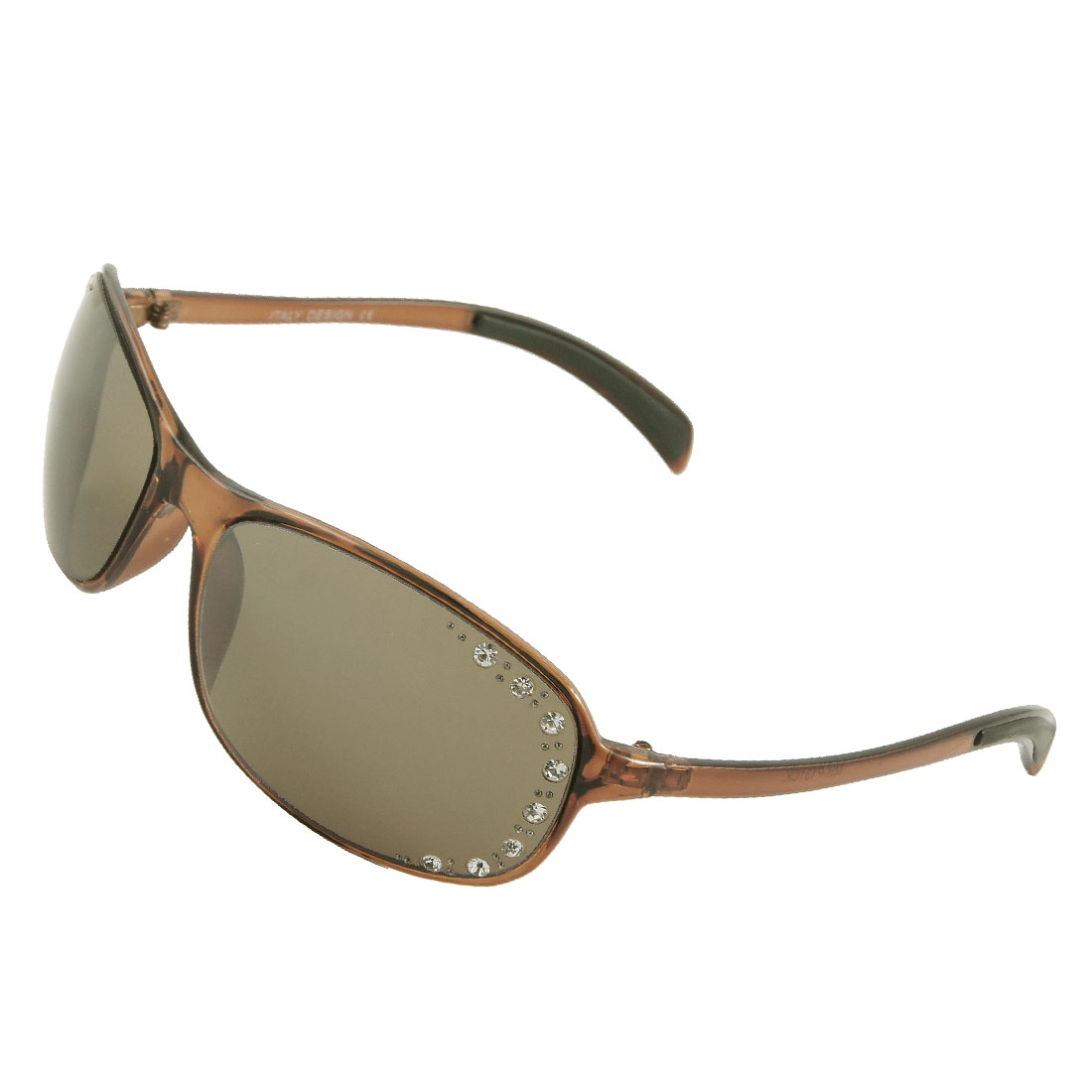 Lady Dark Brown Plastic Full Frame Eyewear Sunglasses
