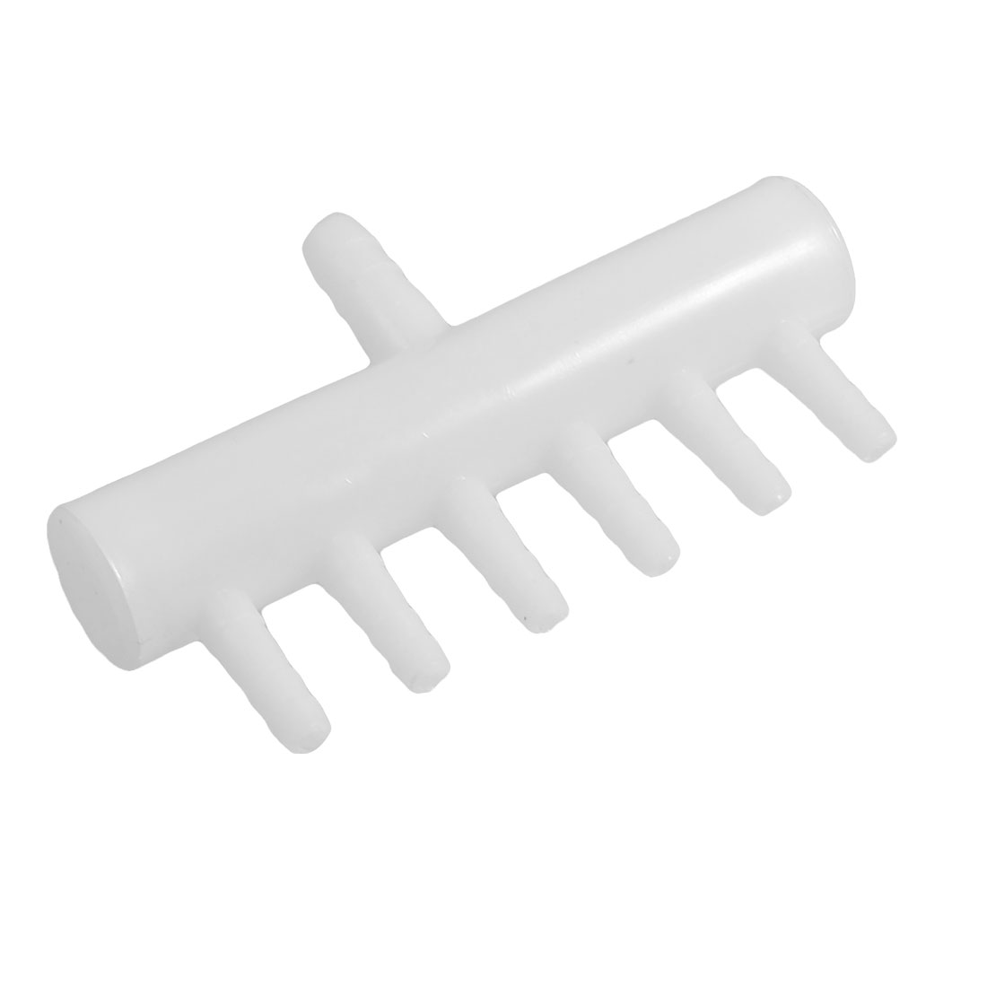 White Plastic 6 Way Air Flow Controller Aquarium O2 Splitter Valve