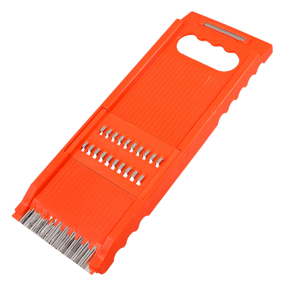 Sharp Metal Scraper Orange Plastic Frame Fruit Vegetable Grater Slicer