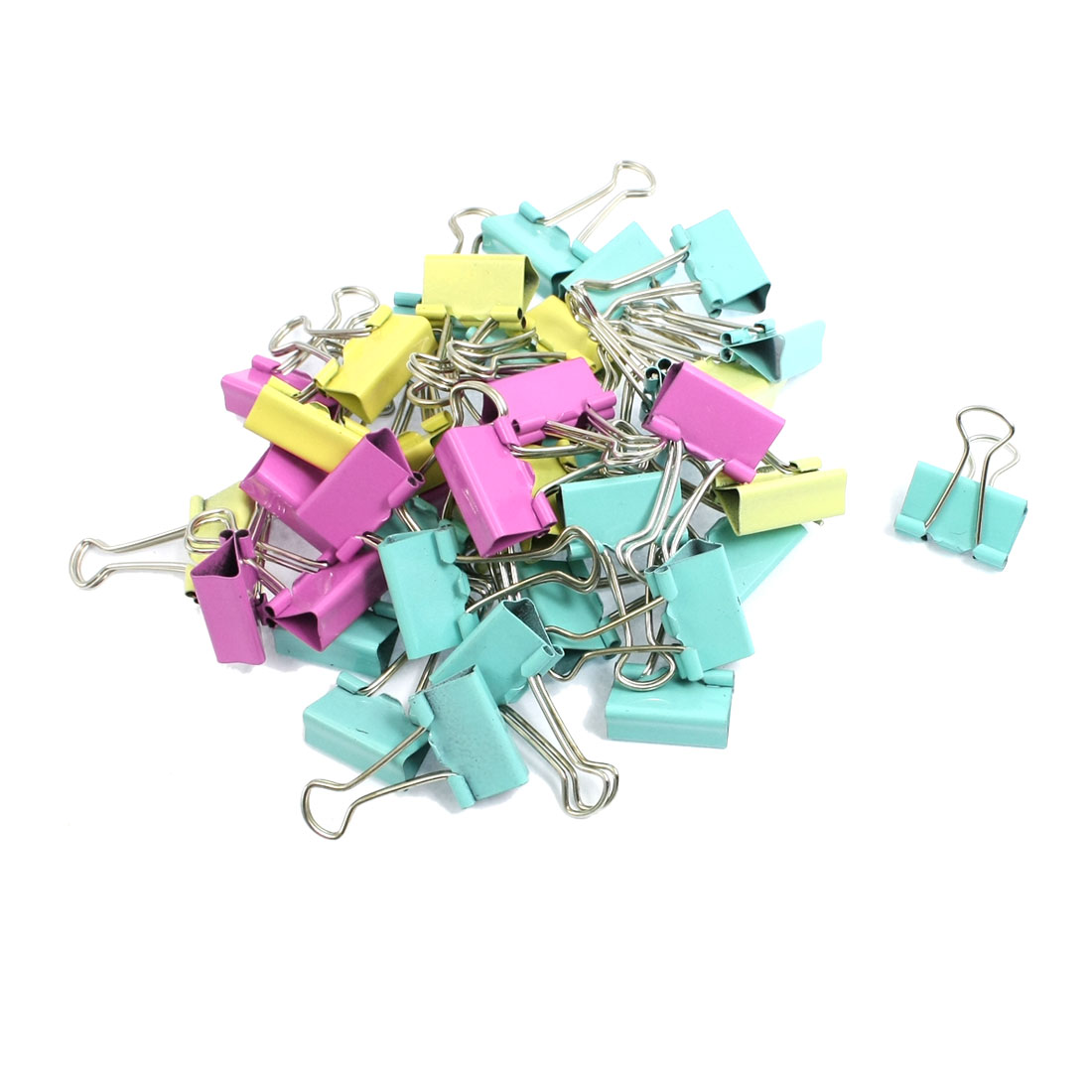 Office School 19mm Width Assorted Color Metal Binder Clips 40 Pcs