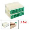 10 Pcs Beige Plastic 0-9 Digits Arabic Numerals Stamp Set
