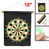"Black 16"" x 12"" Scroll Design Magnet Dart Board Dartboard Toy"
