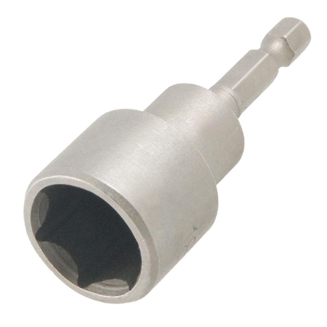65mm Length Magnetic 18mm Hex Socket Nut Driver Setter Gray