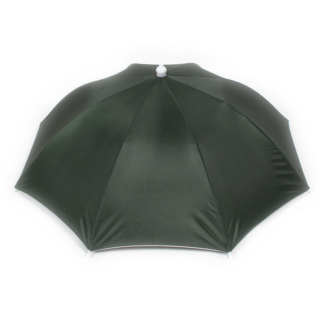 Elastic Headband Beach Umbrella Hat for Fishing Navy Green