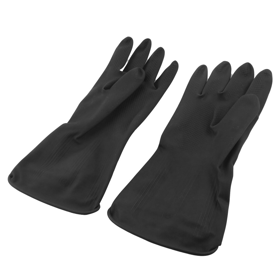 "Industry Household 11"" Length Black Latex Working Gloves"