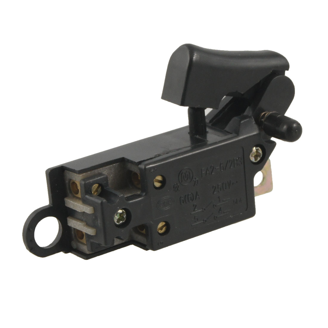FA2-6/2B3 DPST Momentary Push Trigger Switch AC 250V 6A