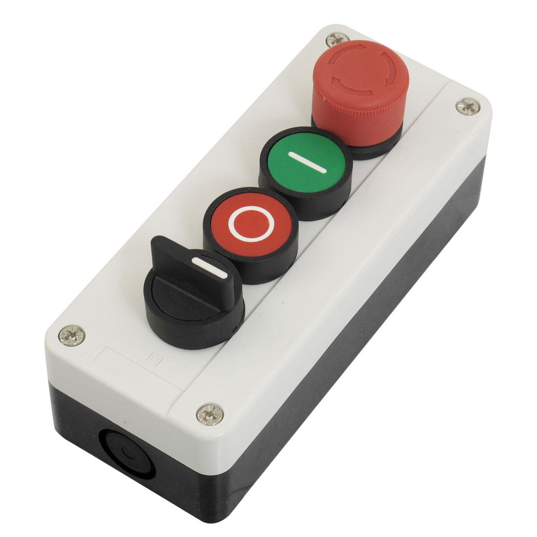 Emergency Stop Momentary 2 NO 3-Position Selector Red Green Push Button Switch