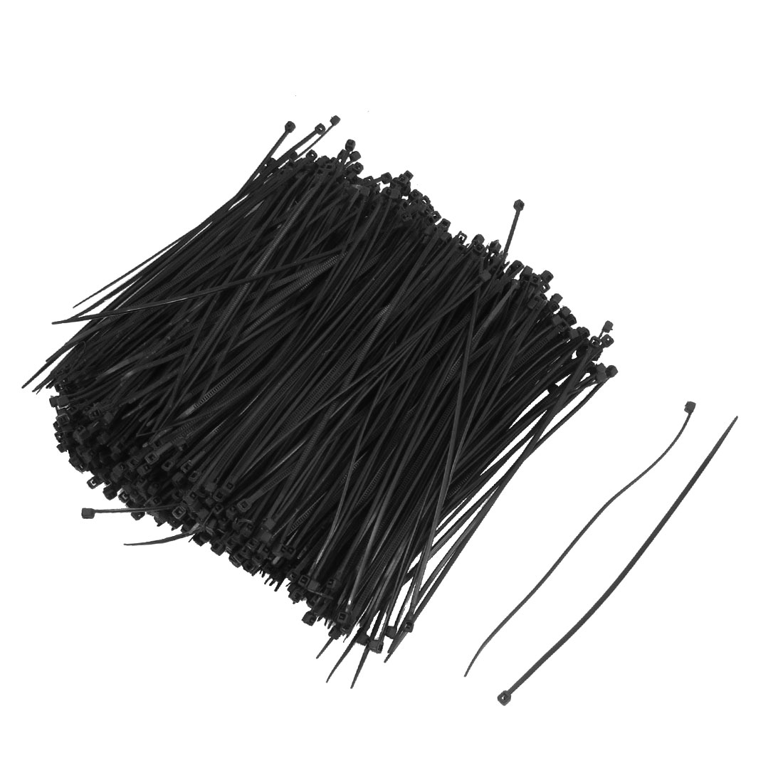 "1000 Pcs 140mm x 2mm Self Locking Wire Cable Zip Tie 5.5"" Black"