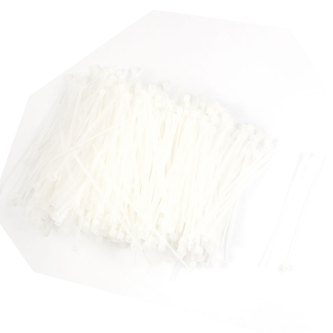 "1000 Pcs 75mm x 2mm Self Locking Wire Cable Zip Tie 3"" White"