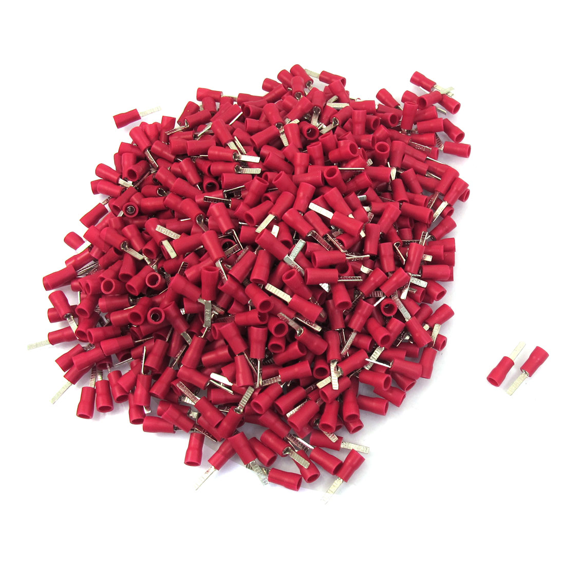 1000 Pcs 22-16 AWG Red PVC Sleeve Insulated Pin Terminals Connector 19A