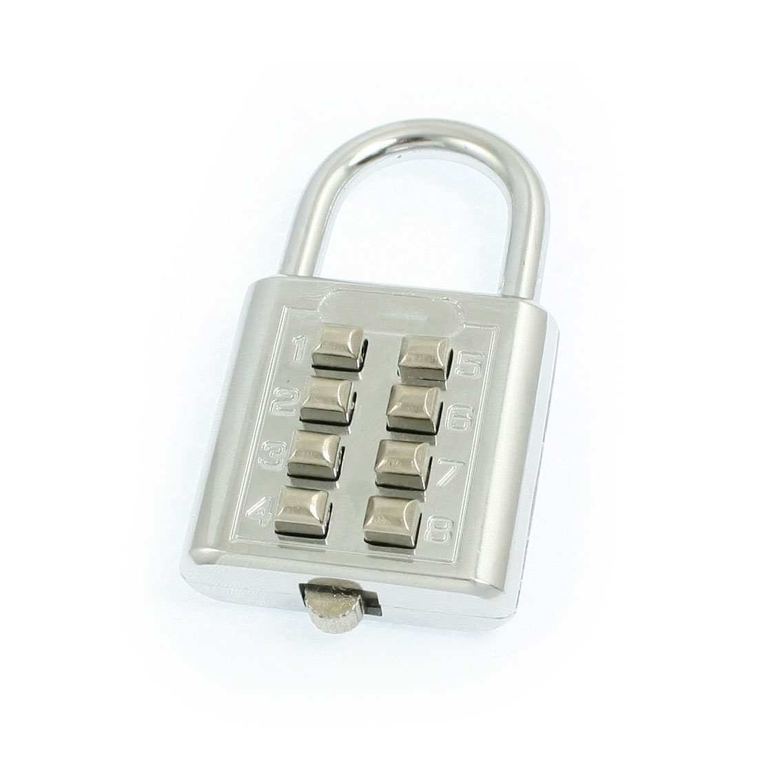 Silver Tone Metal 4 Digits Luggage Combination Password Padlock