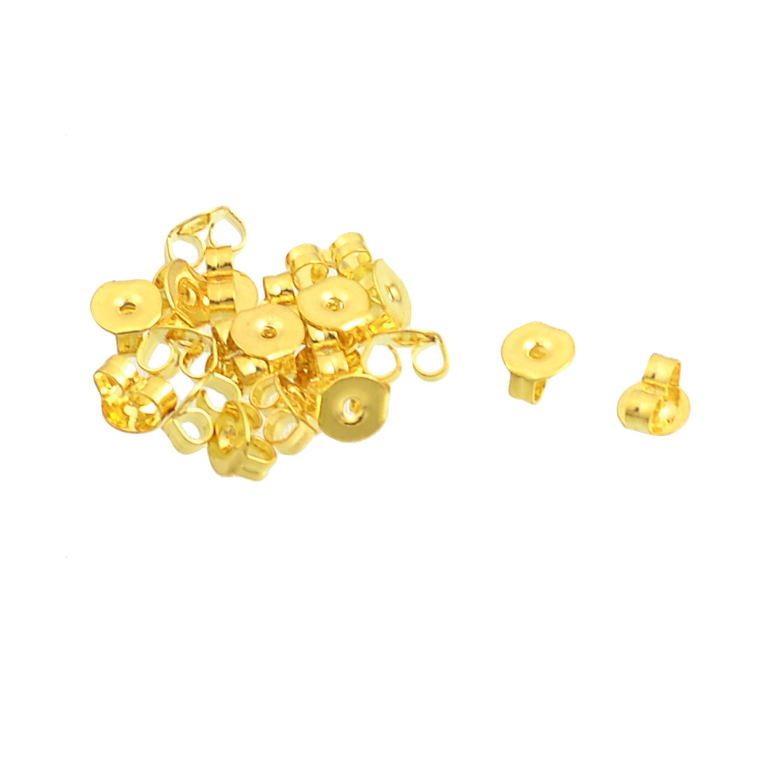 20 Pcs Gold Tone Alloy Plate Ear Nuts Earring Backs for Ladies