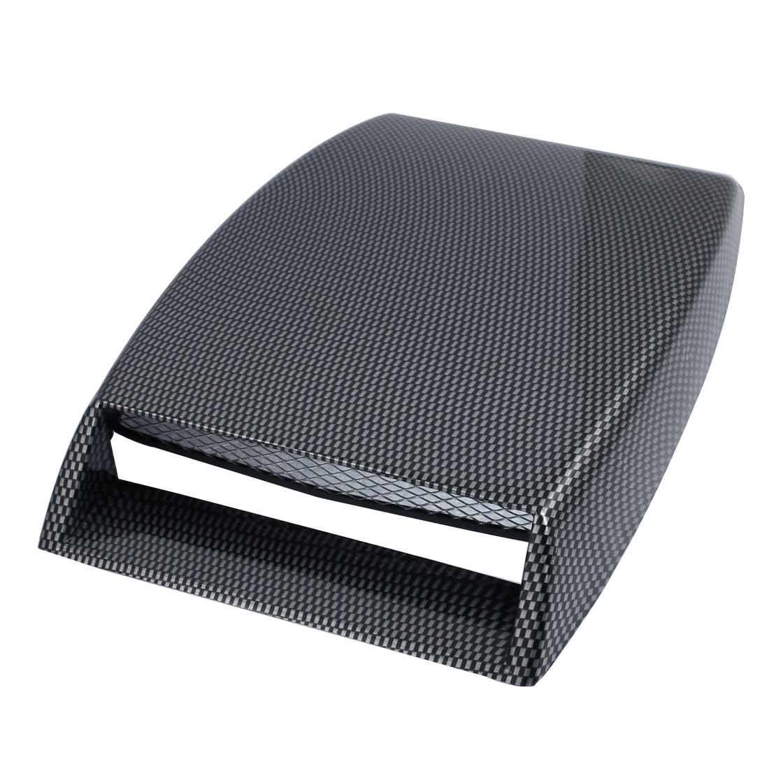 Auto Car Air Flow Vent Gray Black Plaided Plastic Hood Scoop Decoration