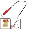 Car Repair Red Plastic Handle Flexible Magnetic Pickup Tool 22.4""